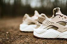 Женские кроссовки Nike Wmns Air Huarache Run PRM Oatmeal Khaki Sail 683818-102, Найк Аир Хуарачи, фото 3