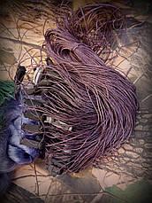 Сеть рыболовная одностенная 100м х 1,8м.,со вшитыми грузами, для промышленного лова, фото 2