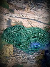 Сеть рыболовная одностенная 100м х 1,8м.,со вшитыми грузами, для промышленного лова, фото 3