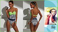 Купальник сплошной Kris Line Sabrina green bodybalkonette