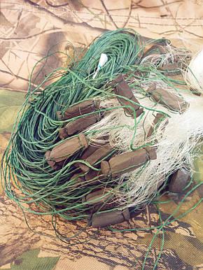 Сеть рыболовная одностенная 100м х 1,8м., груз капелька, для промышленного лова, фото 2