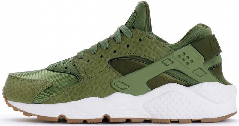 Женские кроссовки Nike Wmns Air Huarache Run Premium/Palm Green 683818-300, Найк Аир Хуарачи