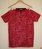 Универсальная мужская футболка с воротником.