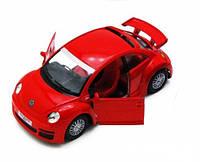 Металлическая машинка Kinsmart Volkswagen New Beetle RSI КТ5058