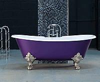 Классическая чугунная ванна на ножках в ретро стиле MILAN