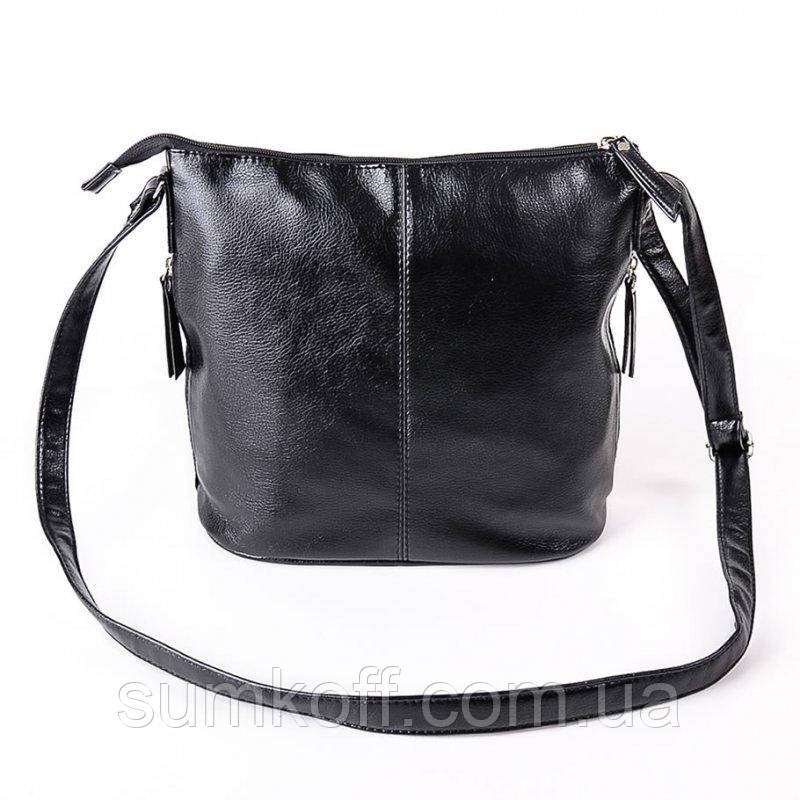 f4eb9390d3cb Черная сумочка М78-33 через плечо молодежная женская: продажа, цена ...
