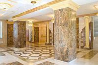 Отделка колонн натуральным камнем