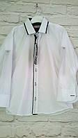 Рубашки белые на кнопках для мальчиков 5-8 лет