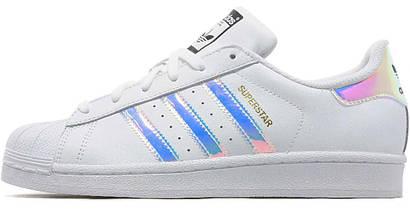 Женские кроссовки Adidas Superstar Iridescent GS White, фото 2