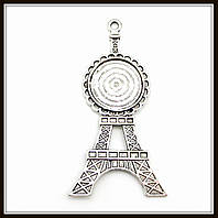 "Сеттинг ""Эйфелева башня"" серебро (7х3,6 диам. 2,7 см) 2 шт в уп."