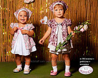 Baby angel платье+рейтузы+косынка арт 384 р 74-92