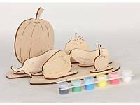 Сборная деревянная модель Овощи + краски, Вудмастер, BOC065930