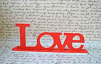 Слово із дерева Love 33*12.5 см Слово из дерева Свадебный декор