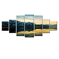 Модульные Светящиеся Большие Картины Природа Горный Пейзаж Декор Стен Дизайн Интерьер 7 частей