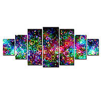 Модульные Светящиеся Большие Картины Цветные Пузыри Абстракция Декор Стен Дизайн Интерьер 7 частей