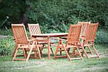 Садові меблі. Стіл 150-200см + 6 крісел. ЕВКАЛІПТ, фото 2