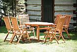 Садові меблі. Стіл 150-200см + 6 крісел. ЕВКАЛІПТ, фото 3
