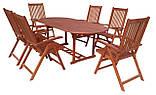 Садові меблі. Стіл 150-200см + 6 крісел. ЕВКАЛІПТ, фото 4