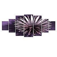 Модульные Светящиеся Большие Картины Фиолетовый Цветок Природа Пейзаж Декор Стен Дизайн Интерьер 7 частей