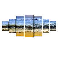 Модульные Светящиеся Большие Картины Море Пляж Природа Пейзаж Декор Стен Дизайн Интерьер 7 частей