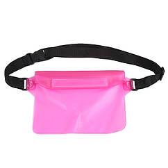 Универсальная водонепроницаемая сумка розовая