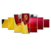 Модульные Светящиеся Большие Картины Автомобильный Стоп Сигнал Декор Стен Дизайн Интерьер 7 частей