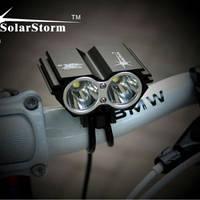 Велофара «Сова» SolarStorm X2 (2 x XM-L T6) 2200Lm + СЗУ + АКБ 6400mAh 8.4v