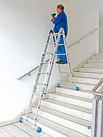 Шарнирная лестница телескопическая CombiMatic KRAUSE (2x3+2x6)