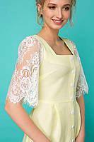 Платье с вырезом каре АЙЛИ салатовое