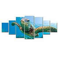 Модульные Светящиеся Большие Картины Большая Черепаха Природа Декор Стен Дизайн Интерьер 7 частей