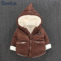 Зимний бархатная курточка для малышей