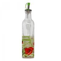 Бутылка для масла стекло 0,5 л Альпийский мак SNT 701-5