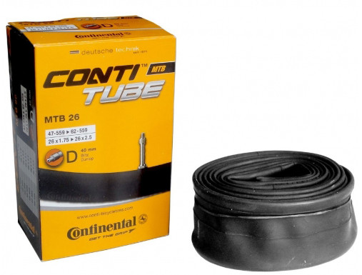 "Камера Continental MTB 26"", 26x1.75 > 26x2.5 Dunlop 40мм"
