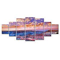 Модульные Светящиеся Большие Картины Большой Каньон Природа Пейзаж Декор Стен Дизайн Интерьер 7 частей