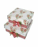 Маленькие квадратные подарочные коробки ручной работы с сердечком for you
