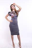 Трикотажное женское платье-комби