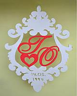 Весільний декор Герб 50*36,5 см Свадебный декор Герб из дерева