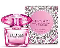 Женская парфюмерная вода Versace Bright Crystal Absolu, версаче духи женские розовые
