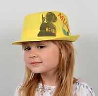 Шляпа детская с рисунком
