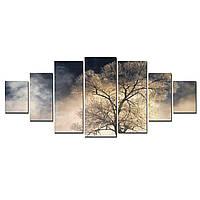 Модульные Светящиеся Большие Картины Таинственное Дерево Природа Пейзаж Декор Стен Дизайн Интерьер 7 частей