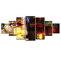 Модульные Светящиеся Большие Картины Лицо Мужчина Абстракция Декор Стен Дизайн Интерьер 7 частей