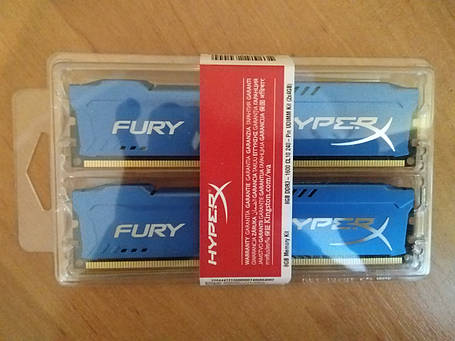 Оперативная память Kingston 8 GB (2x4GB) DDR3 1600 MHz HyperX FURY (HX316C10FK2/8), фото 2