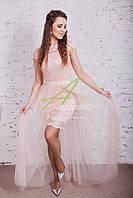 Женское платье на выпускной 2018 со съемной юбкой - Код пл-173, фото 1