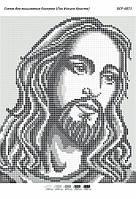 """Схема для вышивки бисером 23х19см  """"Лик Иисуса Христа ч/б"""""""