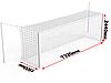 Ворота футбольные стационарные с стойками натяжения для сетки