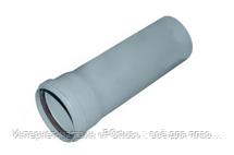 Труба раструбная ПВХ Wavin с уплотнительным кольцом для внутренней канализации серая 110х2,6х1000