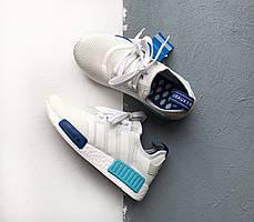 Женские кроссовки Adidas NMD R1 Blue Glow S75235, Адидас НМД, фото 2
