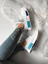 Женские кроссовки Adidas NMD R1 Blue Glow S75235, Адидас НМД, фото 3