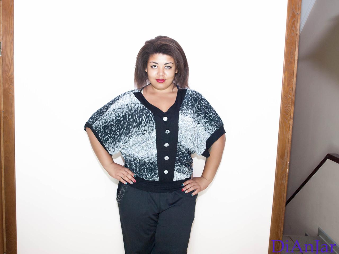 Блузка женская большого размера WERSSO