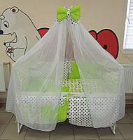Детское постельное белье Euro Present Салатовые груши и горошек